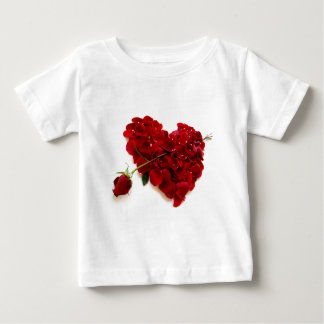 red rose heart infant t-shirt