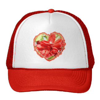Red Rose Heart Valentine Trucker Hat
