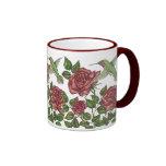 Red Rose & Hummingbird Coffee Mug