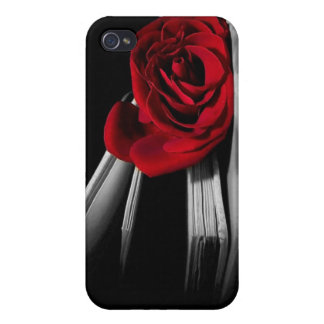 Red Rose in book Personalized iPhone 4 Cases
