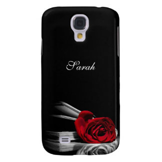 Red Rose in book Personalized Samsung Galaxy S4 Cover