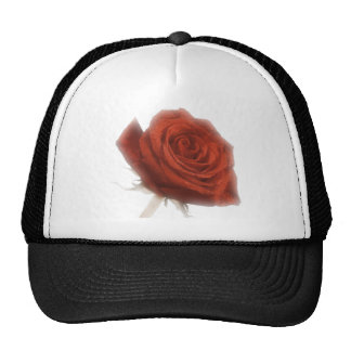 Red Rose In Soft Focus Trucker Hat