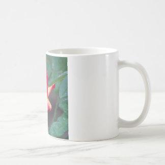 red rose in the rain coffee mug