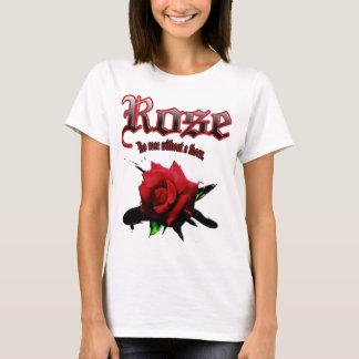 red rose & ink brush T-Shirt