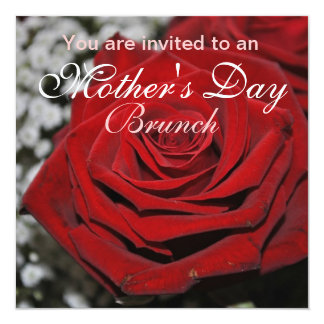 Red rose - invitation