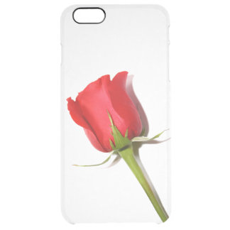 Red Rose iPhone 6 Plus Clear Case