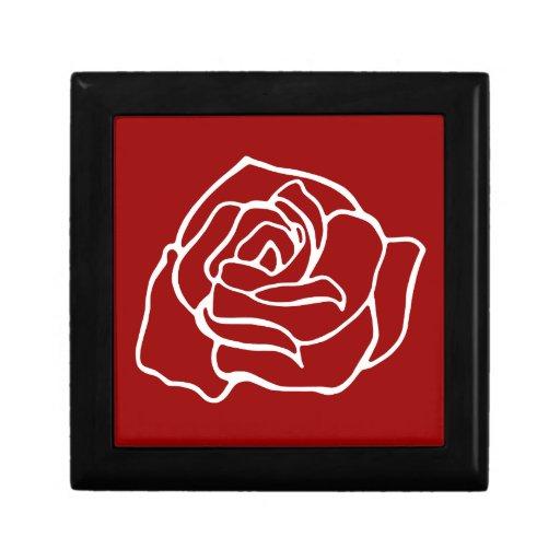 Red Rose Jewelry Box