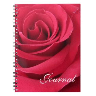 Red Rose-Journal Spiral Notebooks