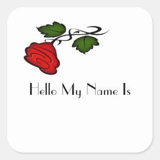 Red Rose Kiss kash002 Square Sticker