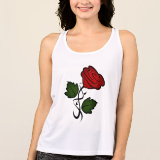 Red Rose Kiss kash002 Tank Top