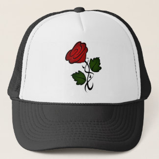 Red Rose Kiss kash002 Trucker Hat