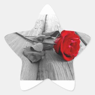 Red Rose Left On The Dock; I Still Love You Star Sticker