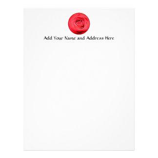 Red rose letterhead design