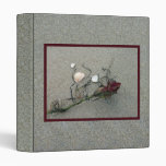 Red Rose Lost at Sea 3 Ring Binder