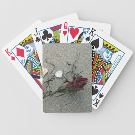 Red Rose Lost at Sea Bicycle Playing Cards