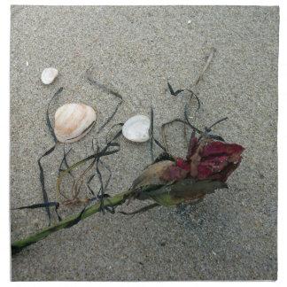 Red Rose Lost at Sea Cloth Napkin