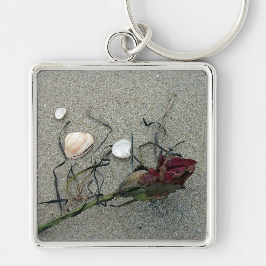 Red Rose Lost at Sea Keychain