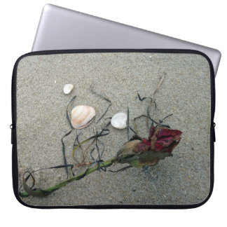 Red Rose Lost at Sea Laptop Sleeve