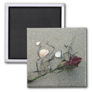 Red Rose Lost at Sea Magnet