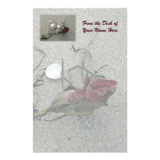 Red Rose Lost at Sea Stationery
