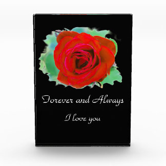 Red Rose Love decorative photo block