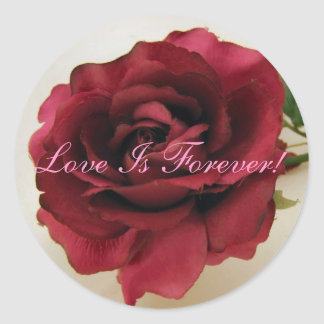 Red Rose Love Is Forever Sticker