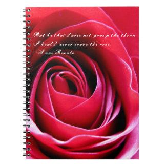 Red Rose Love Petals Notebook