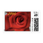 RED ROSE, LOVE POSTAGE