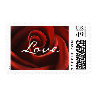 Red Rose Love postage stamps