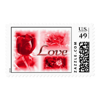 Red Rose Love Trio Postage Stamp