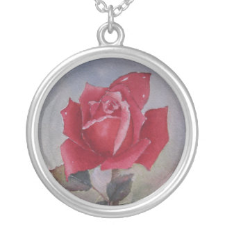 Red rose  Love You for Valentine's Day Personalized Necklace