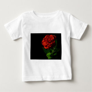 red-rose-macro-still-image-studio-photo baby T-Shirt