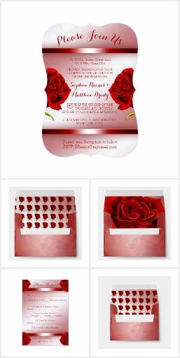 Red Rose Marble Wedding