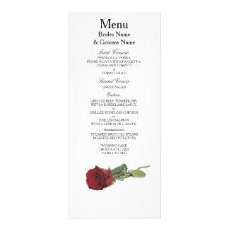 Red Rose Modern Simple Elegant WeddingIdeas Rack Card