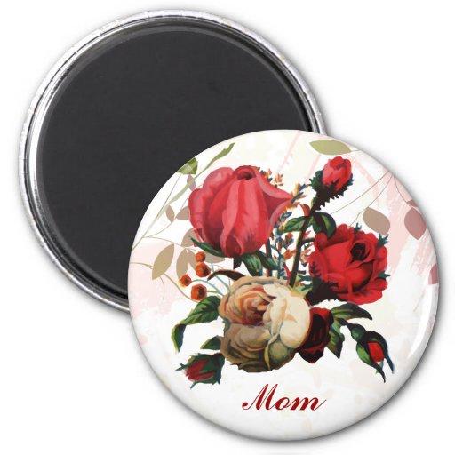 Red Rose  mom birthday gift Fridge Magnet