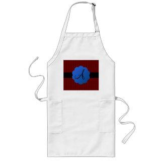 Red rose monogram apron