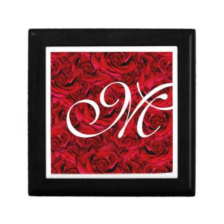 Red rose monogram flower floral gift boxes