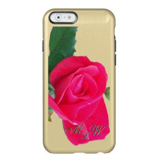 Red Rose Monogram Incipio Feather® Shine iPhone 6 Case