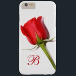 """Red Rose Monogram iPhone 6 Plus Case<br><div class=""""desc"""">Red Rose</div>"""