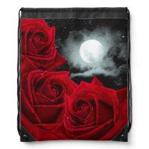 Red Rose Moon Illustration Backpack