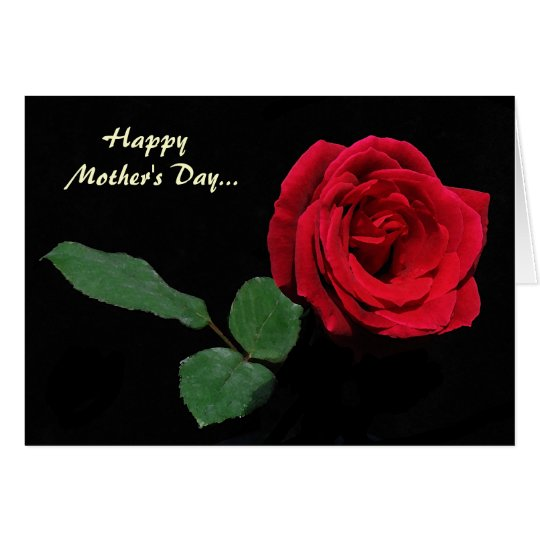 Red Rose Mother's Day Card