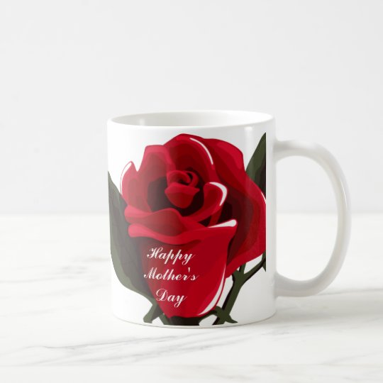 Red Rose Mother's Day Mugs