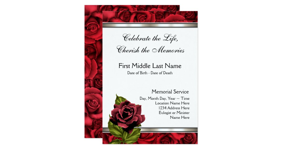 Funeral Invitations Announcements – Funeral Invitation Cards