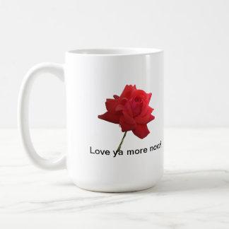 Red Rose Mug 'Love ya'