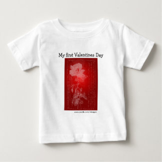 Red Rose My First Valentines Day Baby T-Shirt