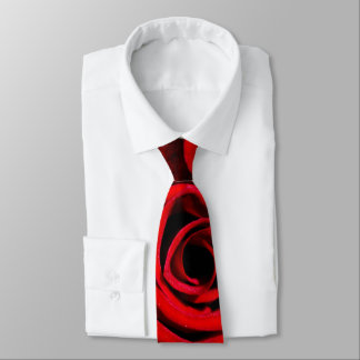 Red Rose Neck Tie