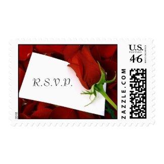 Red Rose Note R.S.V.P. Postage stamp