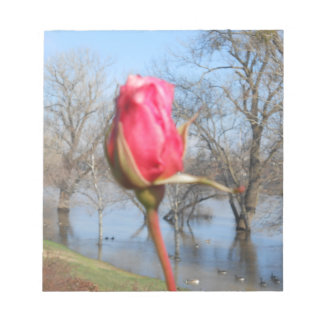 Red Rose Notepad