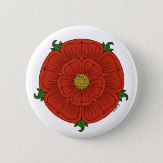 Red Rose of Lancaster Button