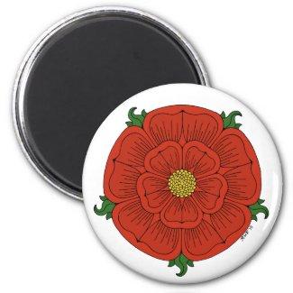Red Rose of Lancaster Magnet